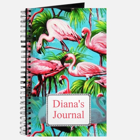 Personalized Pink Flamino Journal