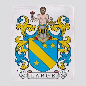 Large Family Crest Throw Blanket
