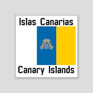 "Canary Islands Square Sticker 3"" x 3"""