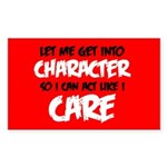 Like I Care White-Black Sticker