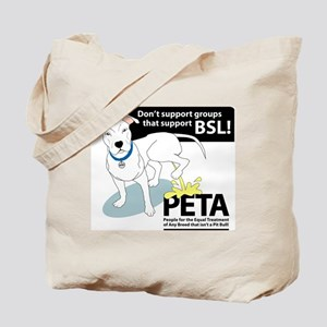 Pit Bull PETA BSL Tote Bag