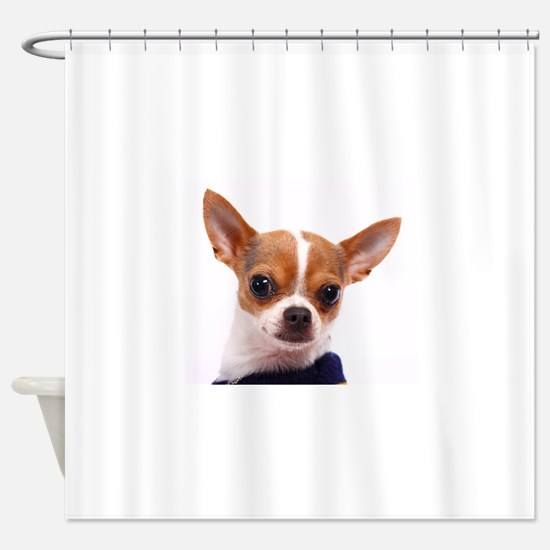 Funny Chihuahua Shower Curtain