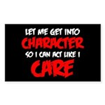 Like I Care Red-White Sticker (Rectangle)