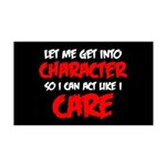 Like I Care Red-White 35x21 Wall Decal