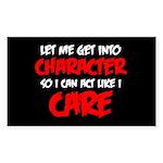 Like I Care Red-White Sticker (Rectangle 10 pk)