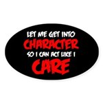 Like I Care Red-White Sticker (Oval 50 pk)