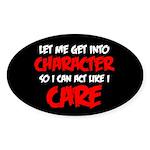 Like I Care Red-White Sticker (Oval 10 pk)