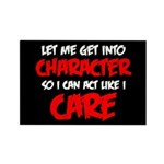 Like I Care Red-White Rectangle Magnet