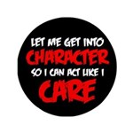 Like I Care Red-White Button