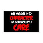 Like I Care Red-White Rectangle Car Magnet