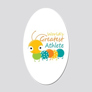 World's Greatest Athlete 20x12 Oval Wall Decal