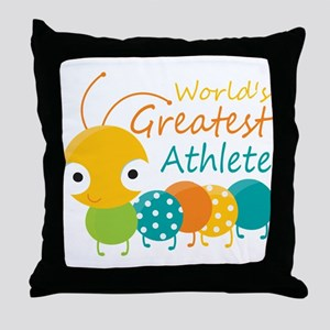 World's Greatest Athlete Throw Pillow