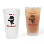 Ninja Bookseller with Book Drinking Glass