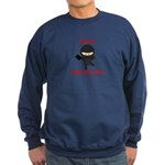 Ninja Bookseller with Book Sweatshirt (dark)