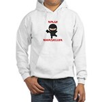 Ninja Bookseller with Book Hooded Sweatshirt