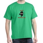Ninja Bookseller with Book Dark T-Shirt