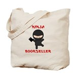 Ninja Bookseller with Book Tote Bag