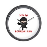 Ninja Bookseller with Book Wall Clock