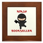 Ninja Bookseller with Book Framed Tile