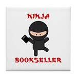 Ninja Bookseller with Book Tile Coaster