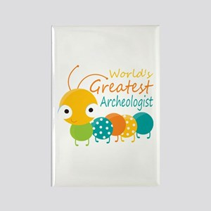 World's Greatest Archaeologist Rectangle Magnet