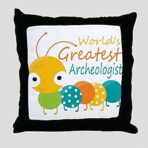 World's Greatest Archaeologist Throw Pillow
