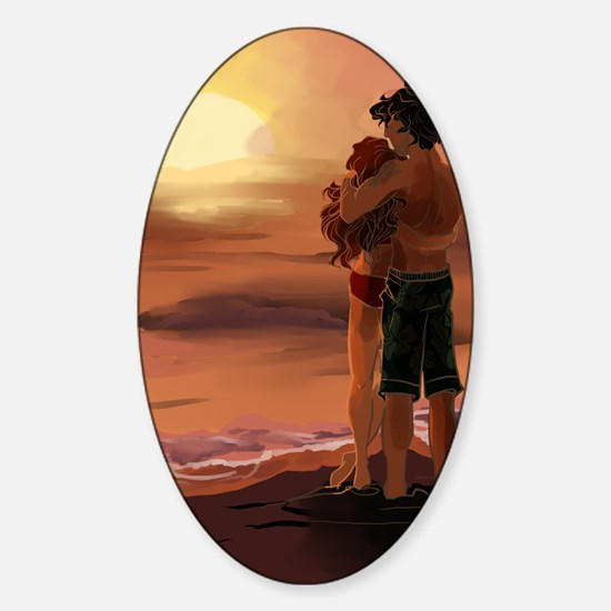 Sally and Poseidon Sticker (Oval)