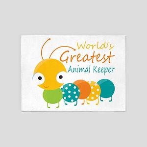 World's Greatest Animal Keeper 5'x7'Area Rug