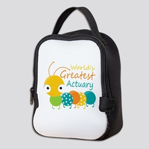 World's Greatest Actuary Neoprene Lunch Bag