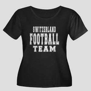 Switzerl Women's Plus Size Scoop Neck Dark T-Shirt