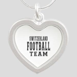 Switzerland Football Team Silver Heart Necklace
