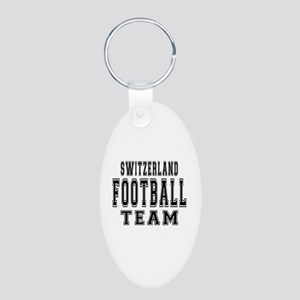Switzerland Football Team Aluminum Oval Keychain