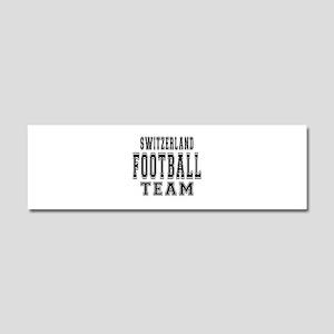 Switzerland Football Team Car Magnet 10 x 3