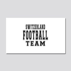 Switzerland Football Team Car Magnet 20 x 12