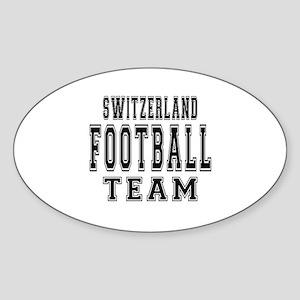 Switzerland Football Team Sticker (Oval)