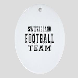 Switzerland Football Team Ornament (Oval)