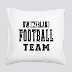 Switzerland Football Team Square Canvas Pillow
