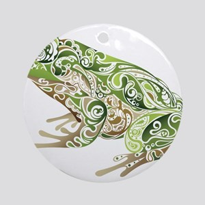 Filligree Frog Ornament (Round)