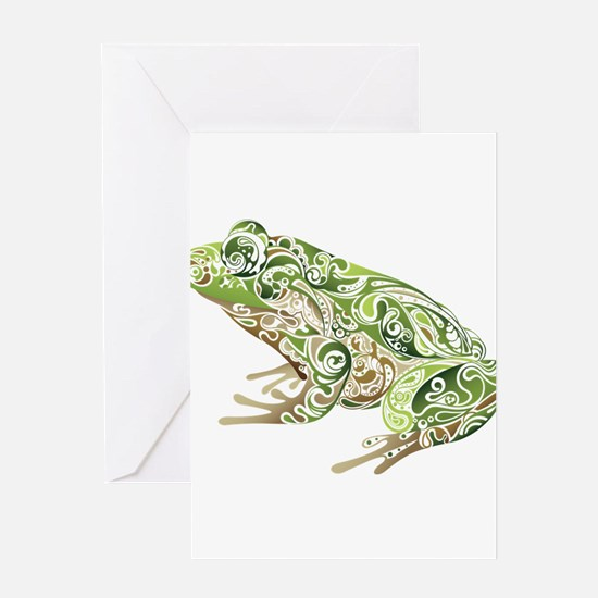 Filligree Frog Greeting Cards
