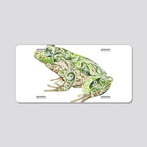 Filligree Frog Aluminum License Plate