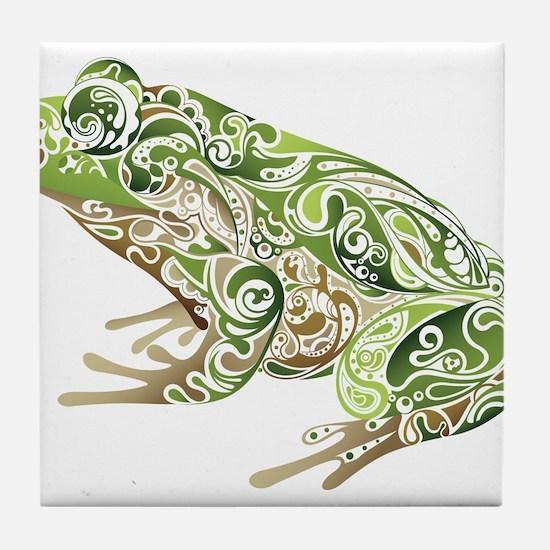Filligree Frog Tile Coaster