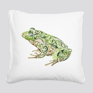 Filligree Frog Square Canvas Pillow