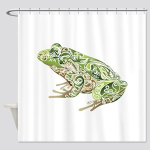 Filligree Frog Shower Curtain