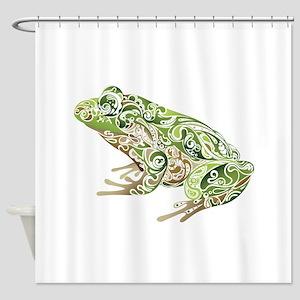 Filligree Frog Shower Curtain