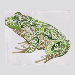 Filligree Frog Throw Blanket