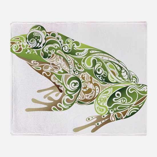 Filligree Frog Throw Blanket