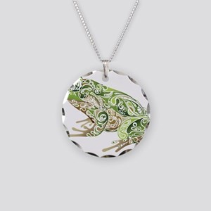 Filligree Frog Necklace