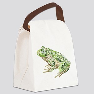Filligree Frog Canvas Lunch Bag