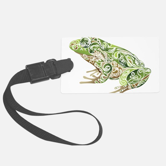 Filligree Frog Luggage Tag
