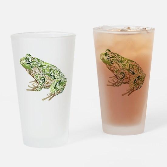 Filligree Frog Drinking Glass